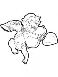 cupid coloring pages free