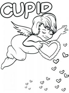 cupid coloring pages free image download