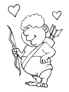 cupid coloring pages free pdf