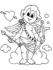 cupid coloring pages free pict