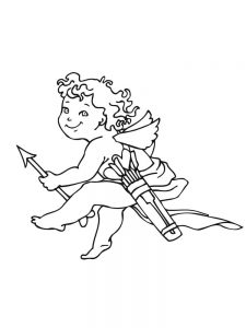 cupid coloring pages free pict online