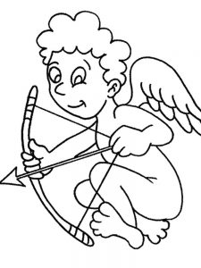 cupid coloring pages free picture