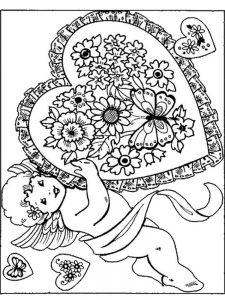 cupid coloring pages pdf