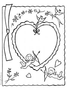 cupid coloring pages picture