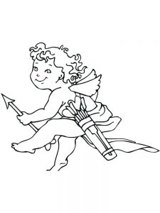 cupid coloring pages sheet