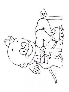 cupid coloring pages sheet free