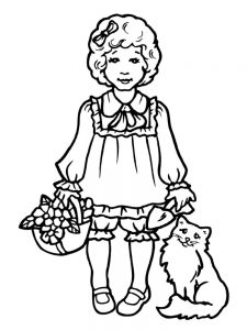 cute anime girl coloring pages printable