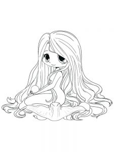 cute anime girl printable coloring pages