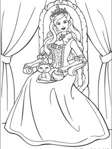 cute barbie coloring pages