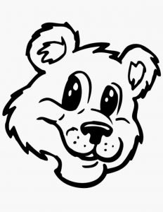 cute bear face print out drawing