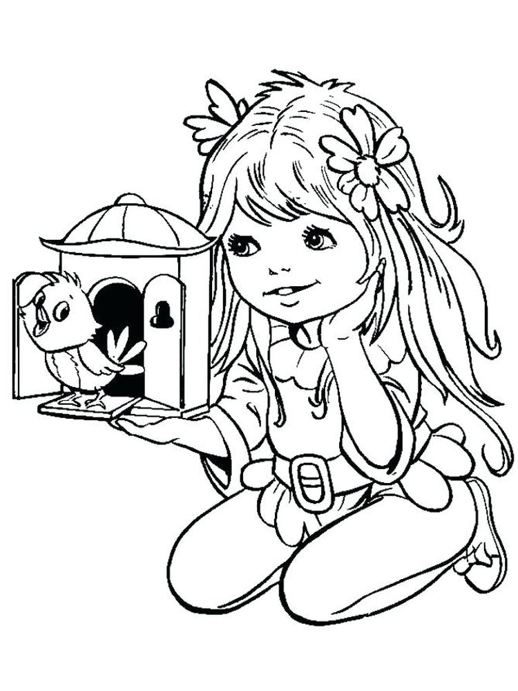 cute cat girl coloring pages