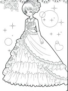 cute coloring pages of girl