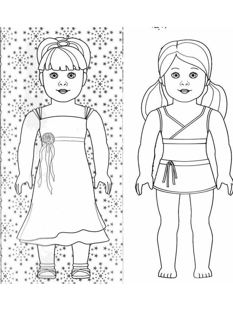cute doll coloring pages