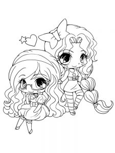 cute girl coloring pages animals