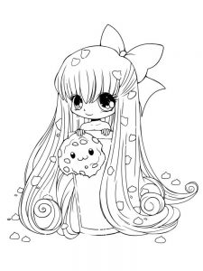 cute girl colouring pages