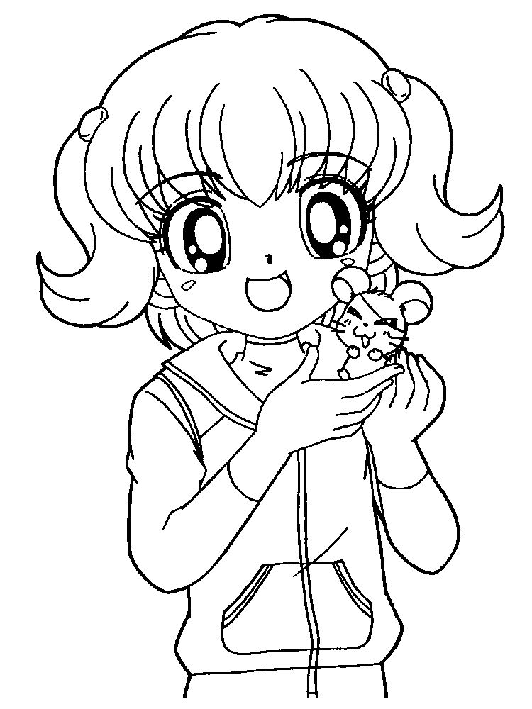 cute girl food coloring pages