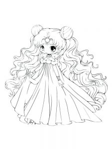 cute manga girl coloring pages