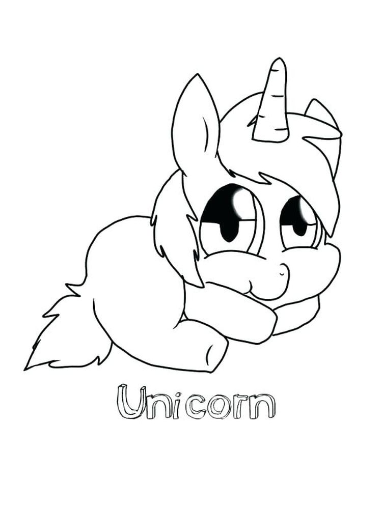 cute unicorn coloring pages printable