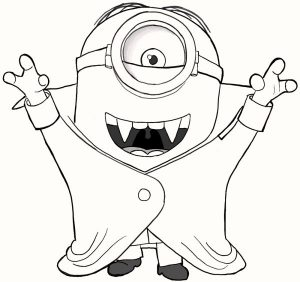 cute vampire minions coloring pages