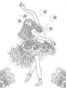 d is for dance coloring page