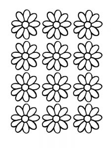 daisy coloring pages for preschoolers