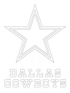 dallas cowboys star coloring page