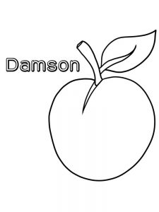 damson coloring image for preschoolers free