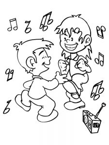 dance coloring pages free