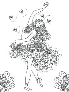 dance love sing live coloring page