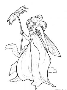 dark fairy coloring pages