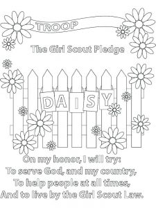 dasiy flower coloring page