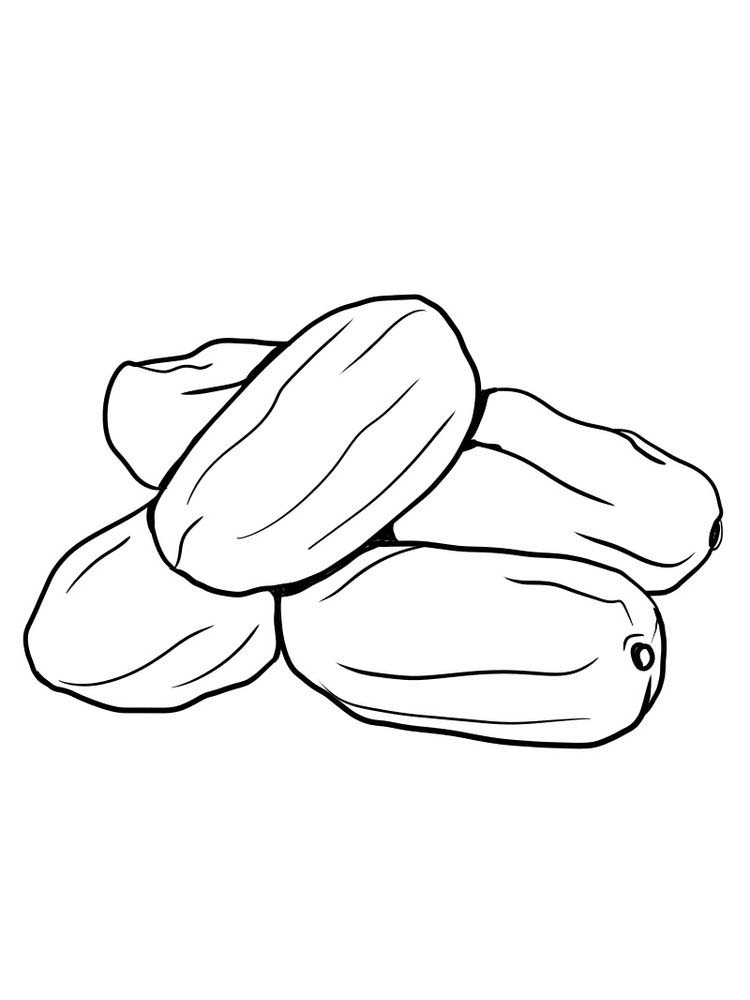 date fruit coloring pictures free