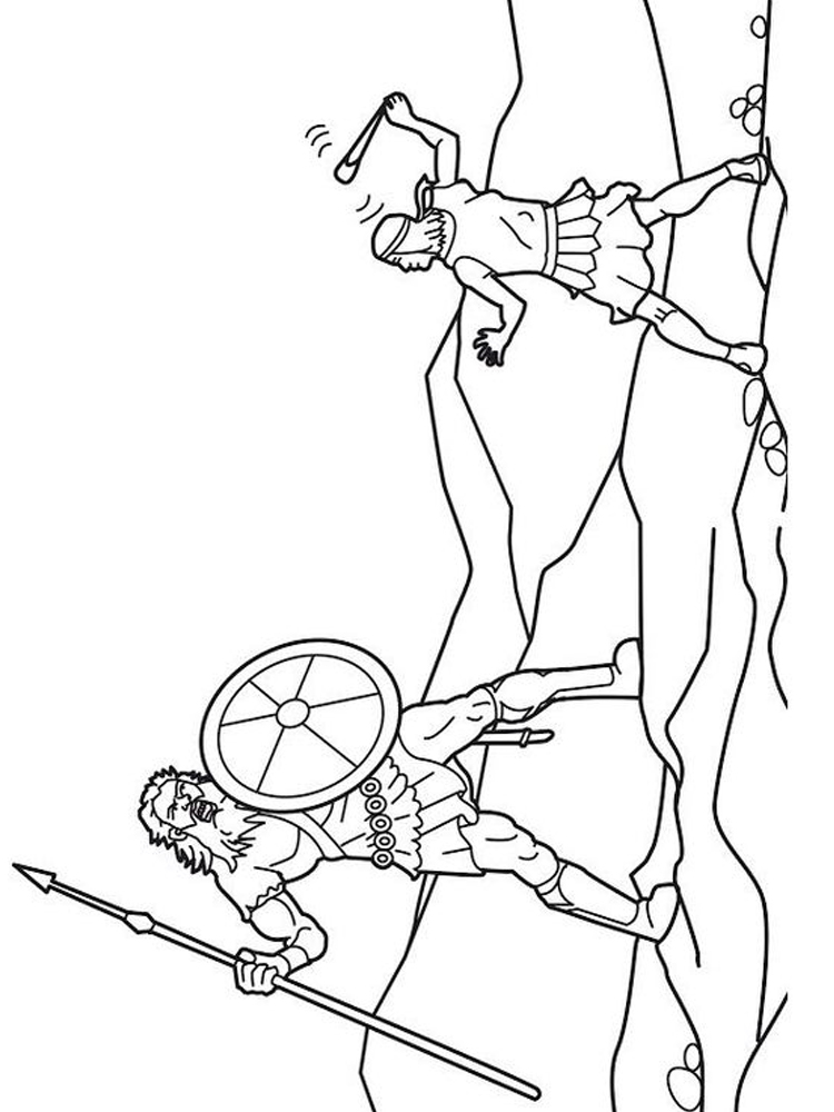 david and goliath coloring pages print