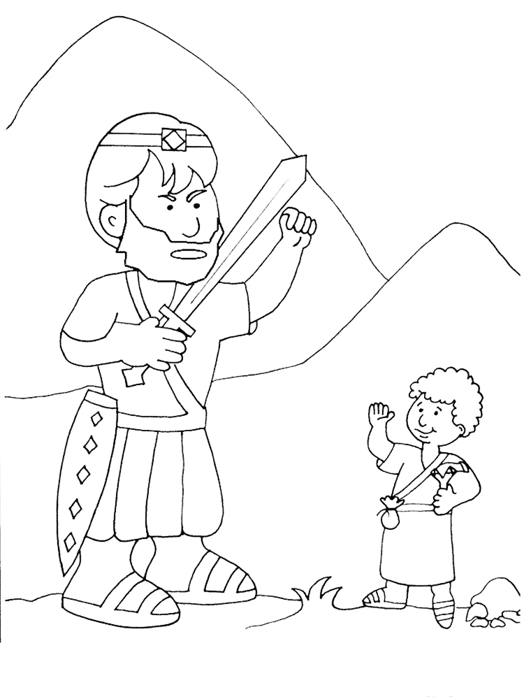 david and goliath coloring pages printable