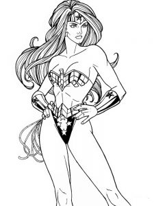 dc comic coloring page