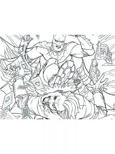 dc comics fan family coloring pages