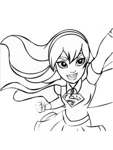 dc superhero girl coloring pages 1