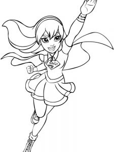 dc superhero girls coloring pages free