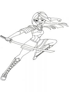 dc superhero girls coloring pages image download