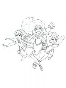 dc superhero girls coloring pages pict