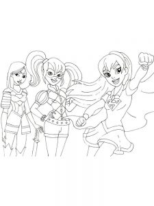 dc superhero girls coloring pages print
