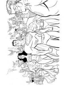 dc superheroes coloring pages free
