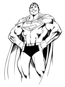 dc superman coloring pages free