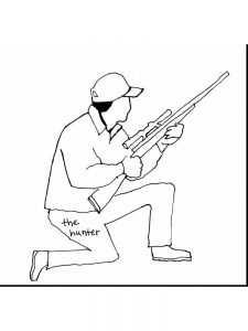 deer hunting coloring pages free