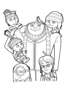 despicable me 3 coloring pages picture