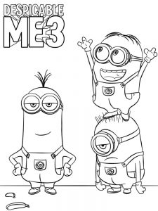 despicable me 3 coloring pages print