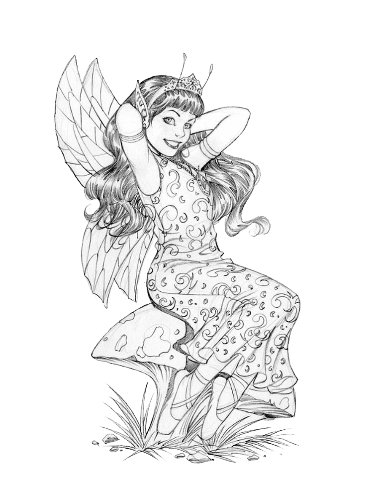 detailed fairy coloring pages