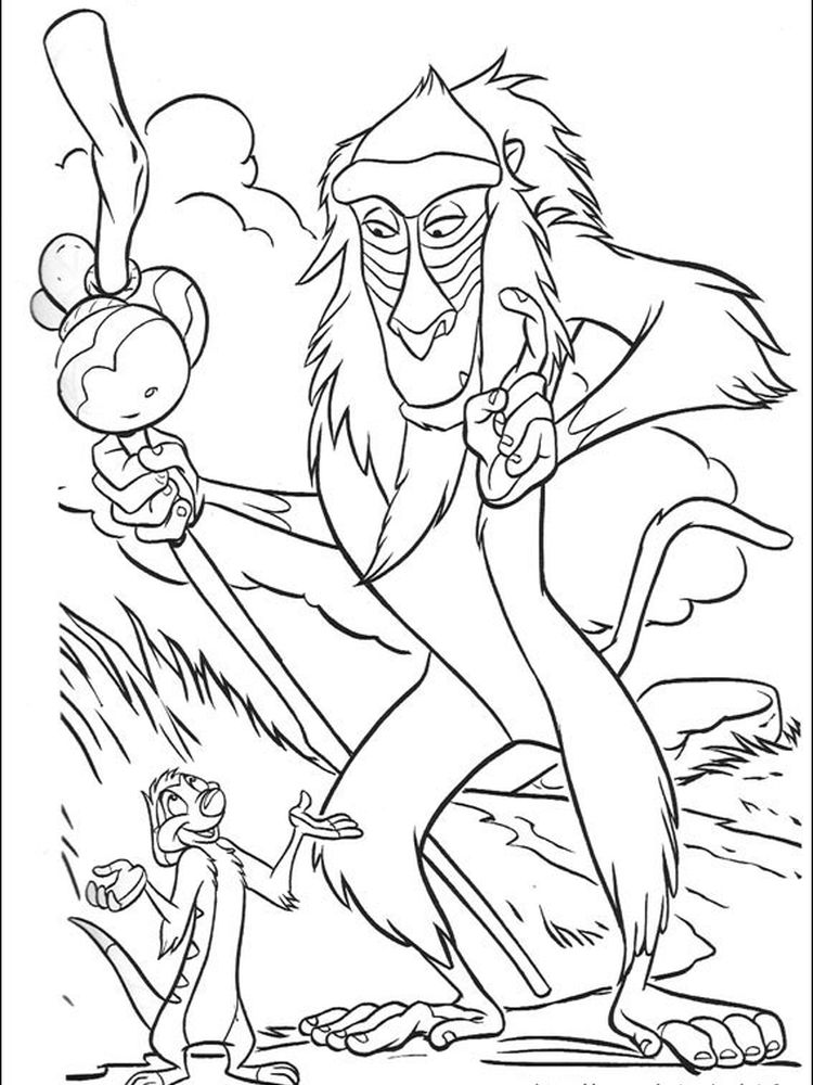 different lion king coloring pages