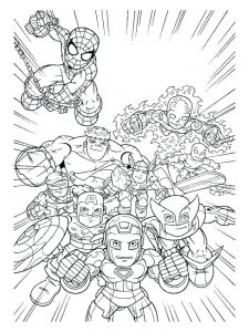 disney avengers coloring pages