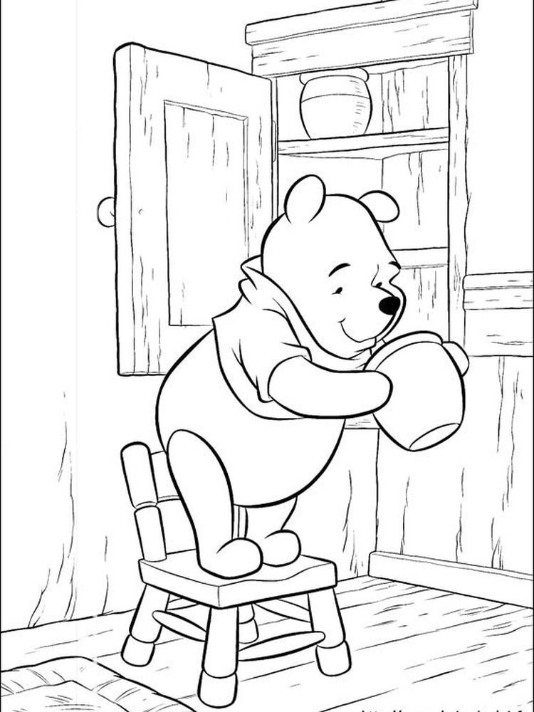 disney baby winnie the pooh coloring pages